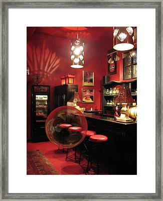 Hotel California With Bubble Framed Print by Pam Blackstone