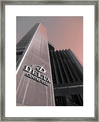 Hotel Delta - Montreal Framed Print by Juergen Weiss