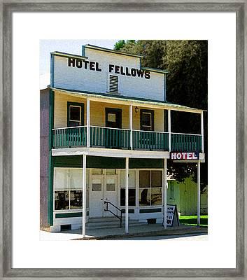 Hotel Fellows 2 Framed Print