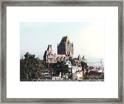 Hotel Frontenac Quebec Canada Framed Print by Cedric Hampton