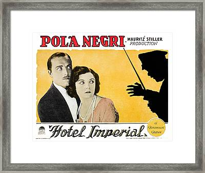 Hotel Imperial, From Left James Hall Framed Print by Everett