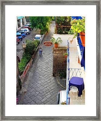 Hotel Mignon Sorrento Framed Print