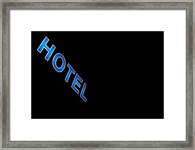 Hotel Framed Print by Stelios Kleanthous