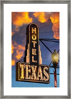 Hotel Texas Framed Print