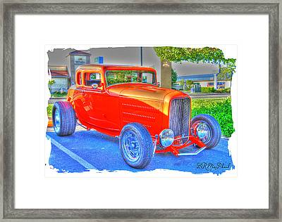 Framed Print featuring the photograph Hotred by Barbara MacPhail
