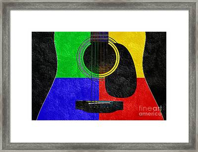 Hour Glass Guitar 4 Colors 1 Framed Print by Andee Design