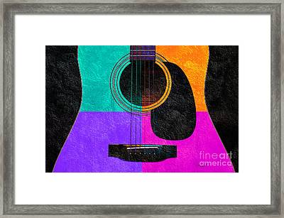 Hour Glass Guitar 4 Colors 2 Framed Print by Andee Design