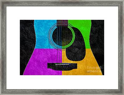 Hour Glass Guitar 4 Colors 3 Framed Print by Andee Design