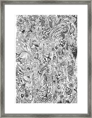 Hours Of Doodling Framed Print