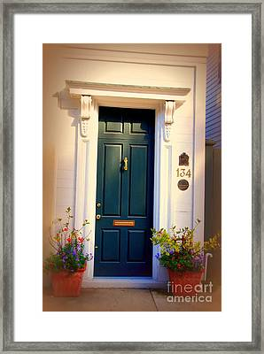 House Door 2 In Charleston Sc  Framed Print by Susanne Van Hulst