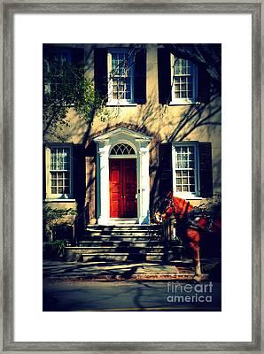 House Door 3 In Charleston Sc  Framed Print by Susanne Van Hulst