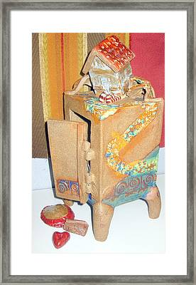 House Fell On My Wicked Witch Treasure Chest Framed Print by Chere Force
