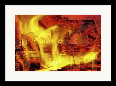 Property Owner Mixed Media Framed Prints
