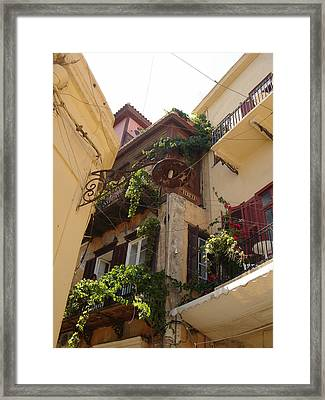 House In Hania Greece Framed Print by Christopher Mullard