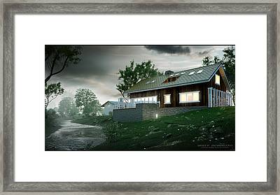 House In The Forest Framed Print by White Mammoth