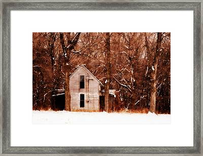 House In The Woods Framed Print by Cheryl Helms