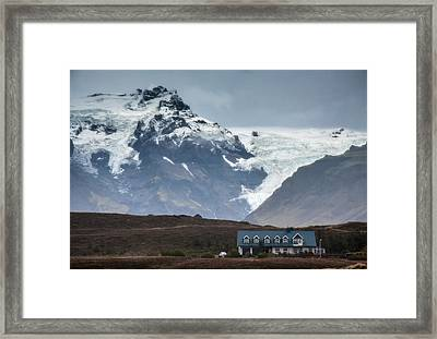 House Mountain And Glacier Framed Print