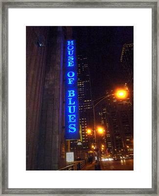 House Of Blues Framed Print by Barry R Jones Jr