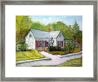 Framed Print featuring the painting House Of Flowers by Gretchen Allen
