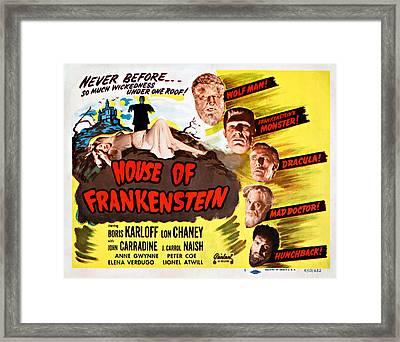 House Of Frankenstein, 1950 Re-issue Framed Print