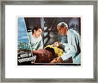 House Of Frankenstein, From Left J Framed Print by Everett