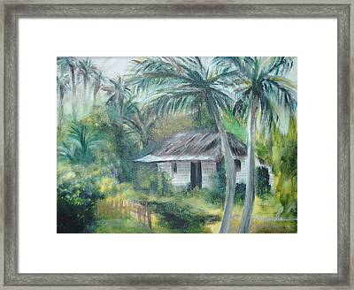 House Of Palms Framed Print