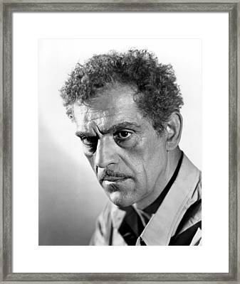 House Of Rothschild, Boris Karloff, 1934 Framed Print by Everett