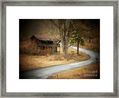 House On A Curve Framed Print by Joyce Kimble Smith
