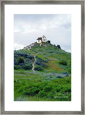 House On A Hill Framed Print by Jill Battaglia