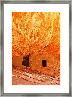 House On Fire Portrait 1 Framed Print by Bob and Nancy Kendrick