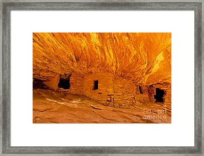 House On Fire Ruin Framed Print by Bob and Nancy Kendrick
