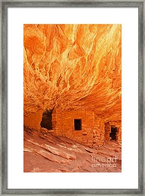House On Fire Ruin Portrait 2 Framed Print by Bob and Nancy Kendrick