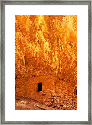 House On Fire Ruin Portrait 3 Framed Print by Bob and Nancy Kendrick