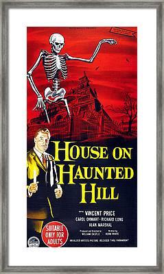 House On Haunted Hill, Bottom Left Framed Print by Everett