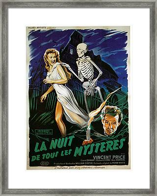 House On Haunted Hill, Carol Ohmart Framed Print