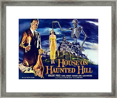House On Haunted Hill, Left Vincent Framed Print by Everett