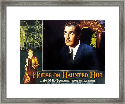 House On Haunted Hill, Vincent Price Framed Print by Everett