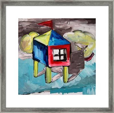 House On Stilts Framed Print by Robert Bruce