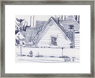 House Sketch One Framed Print by Donald Maier