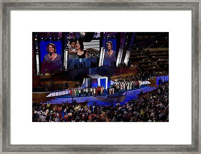 House Speaker Nancy Pelosi Addresses Framed Print by Everett