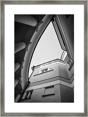 House With Columns Framed Print by Shevi