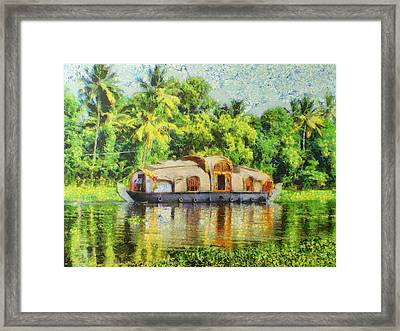 Houseboat Framed Print