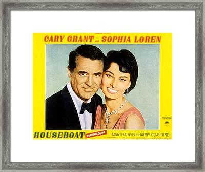 Houseboat, Cary Grant, Sophia Loren Framed Print