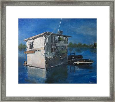 Houseboat Framed Print by Sophie Brunet