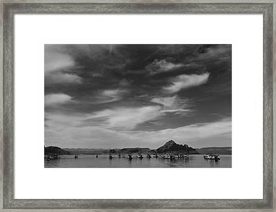 Houseboats On Lake Powell Framed Print