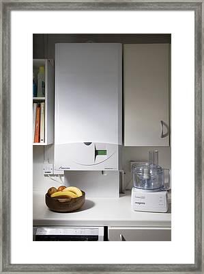 Household Boiler Framed Print by Sheila Terry