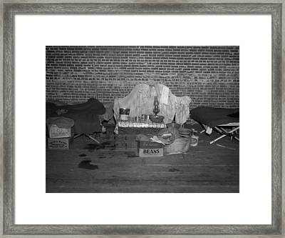 Household Goods Saved From A Flood Framed Print by Everett