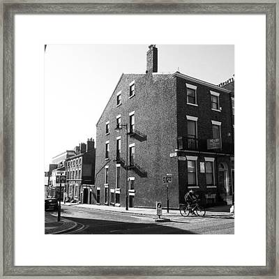#houses #house #liverpool #streets #uk Framed Print