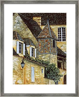 Houses In Sarlat Framed Print