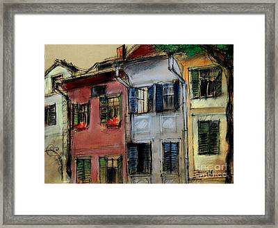 Houses In Transylvania 1 Framed Print by Mona Edulesco